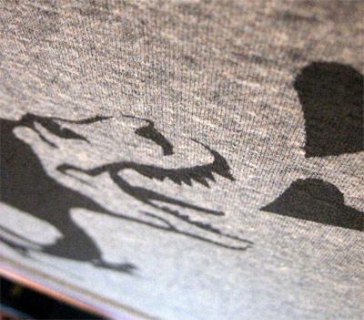 New York City graffiti t-shirt close-up.