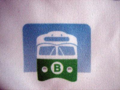 Good old Boston trolley car on a t-shirt - gotta love it.