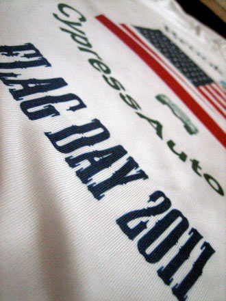 Brookline.com's dye sublimated performance t-shirt for Flag Day 2011!