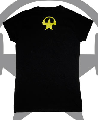 screen printed ringspun t-shirt back