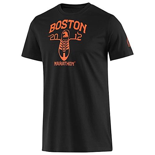 Boston Marathon running shoe t-shirt