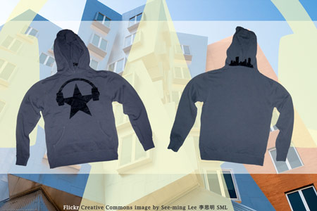 Cavata screen printed hoodies.