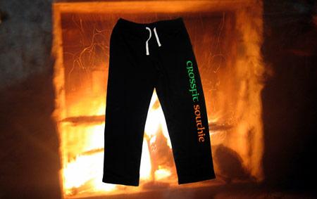 Screen printed crossfit sweatpants.