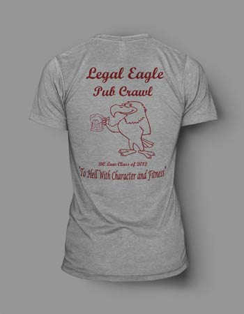 Boston College law school screen printing t-shirt digital mock-up