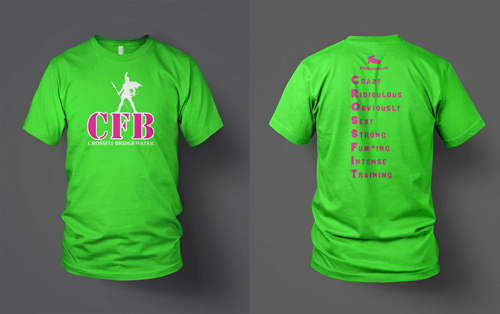 crossfit brigewater neon screen printing t-shirt digital mock-up