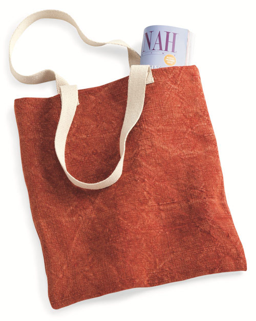 Natural canvas shoulder straps pair with beautiful colors and renewable jute to create this awesome tote bag.