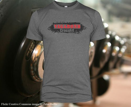 vagabond crossfit screen printed triblend t-shirt