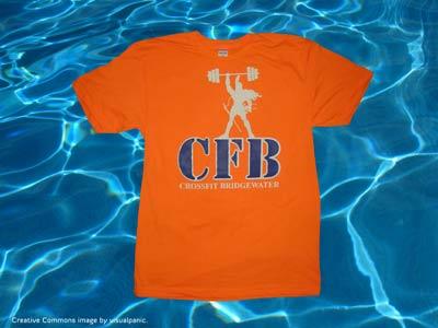 crossfit bridgewater screen printed american apparel bb401 neon orange t-shirt