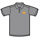 Screen printed and embroidered corporate casual golf polo dress shirts.