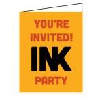 Screen printed and letterpressed custom special event wedding bar bat mitzvah invitations.