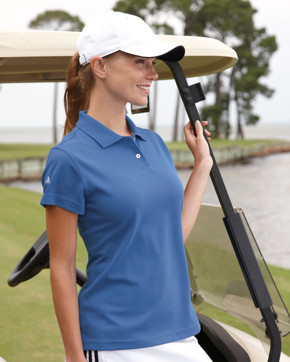 Adidas Golf Ladies ClimaLite Pique Polo A85