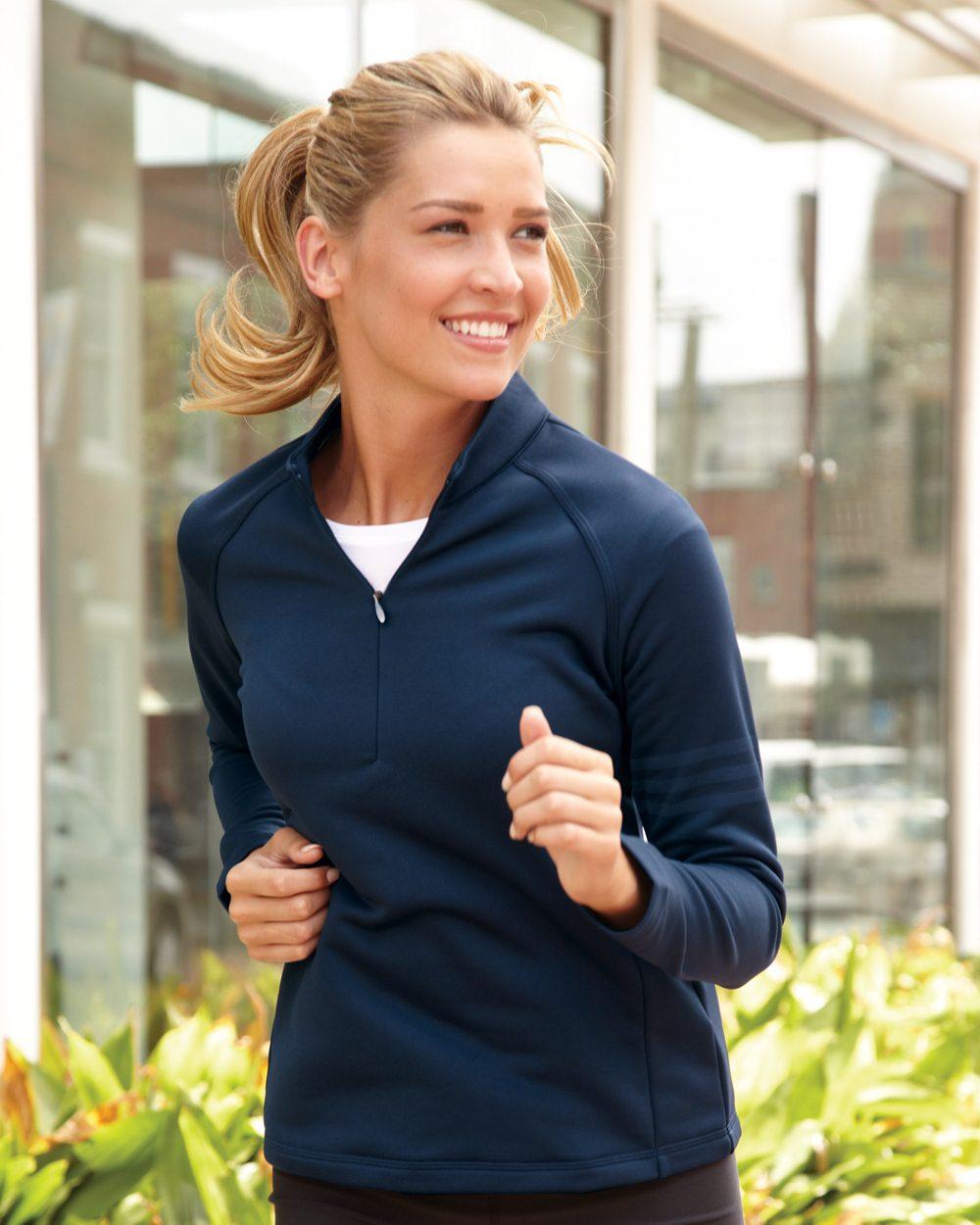 Adidas Golf Ladies Performance Quarter-Zip Training Top A175