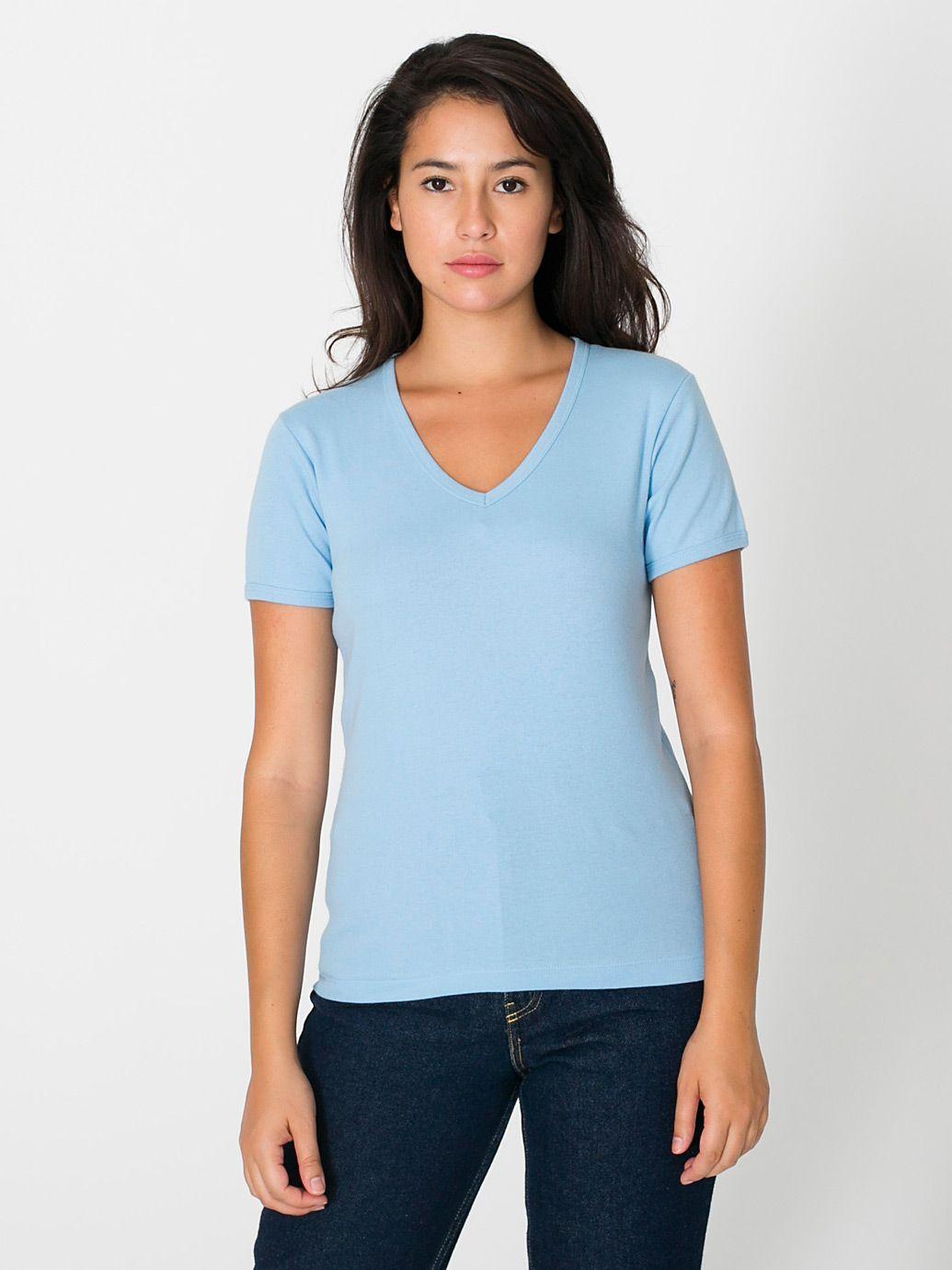 Light Blue V-Neck