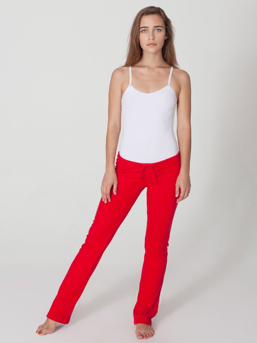 American Apparel California Fleece Straight Leg Pant ...