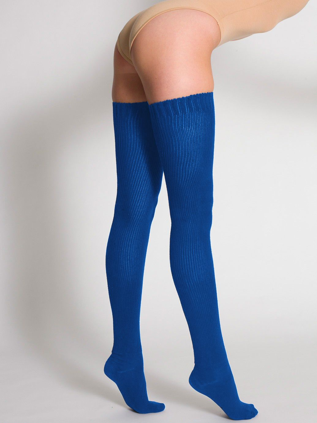38b60ddb2 American Apparel Cotton Solid Thigh-High Socks - Evan Webster INK