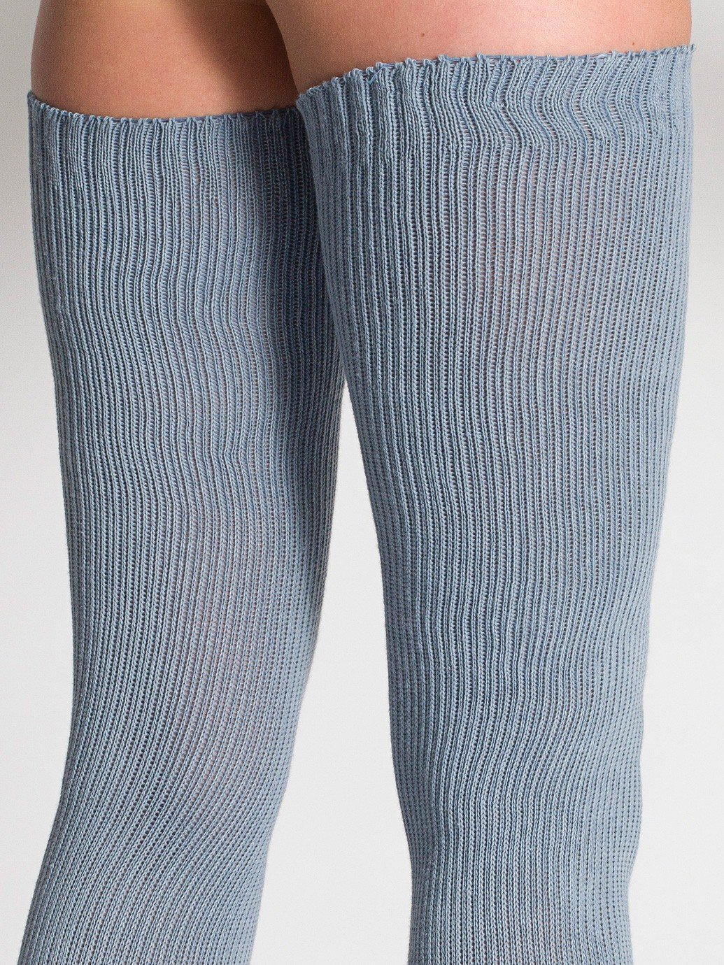 471372c022511 American Apparel Cotton Solid Thigh-High Socks - Evan Webster INK