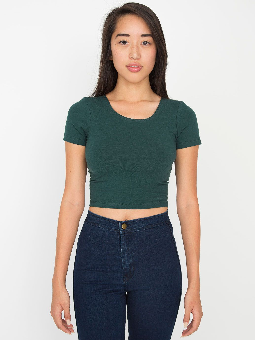 982af1ffd81 American Apparel Cotton Spandex Jersey Crop Tee - Evan Webster INK