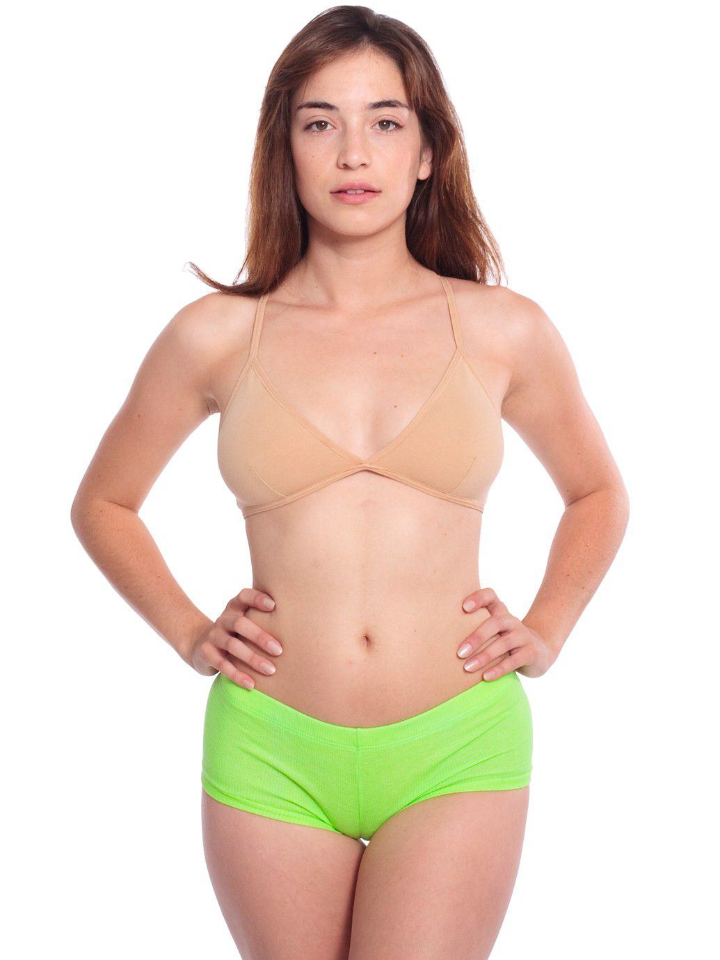 American Apparel Cotton Spandex Jersey Hot Short Female Bright Green