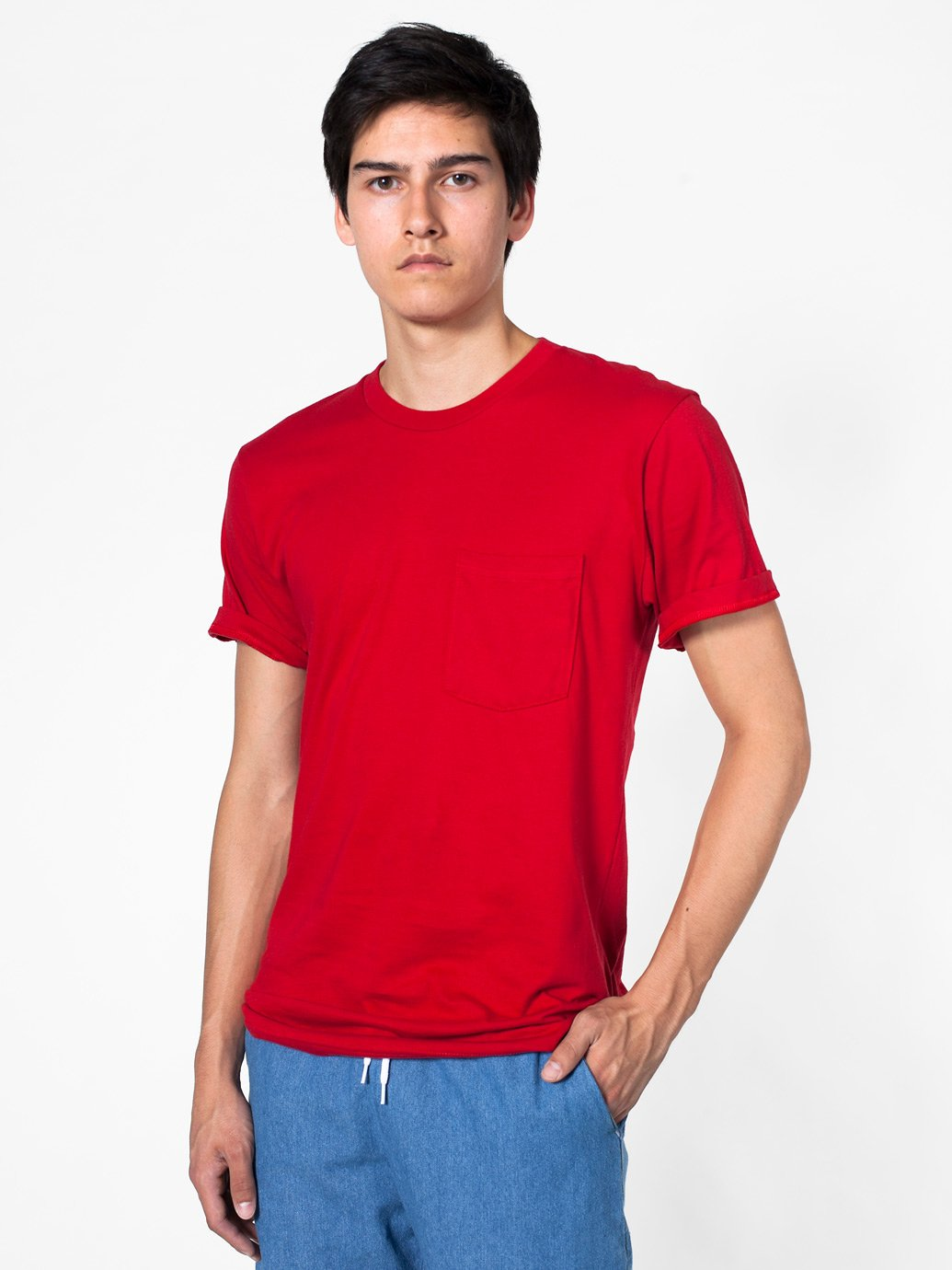 American apparel fine jersey pocket short sleeve shirt for American apparel fine jersey crewneck t shirt