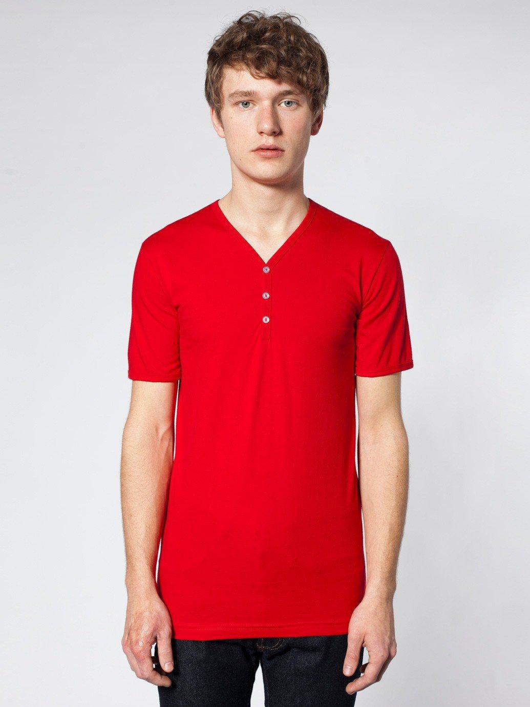 82033fc11a American Apparel Fine Jersey Short Sleeve Henley - Evan Webster INK