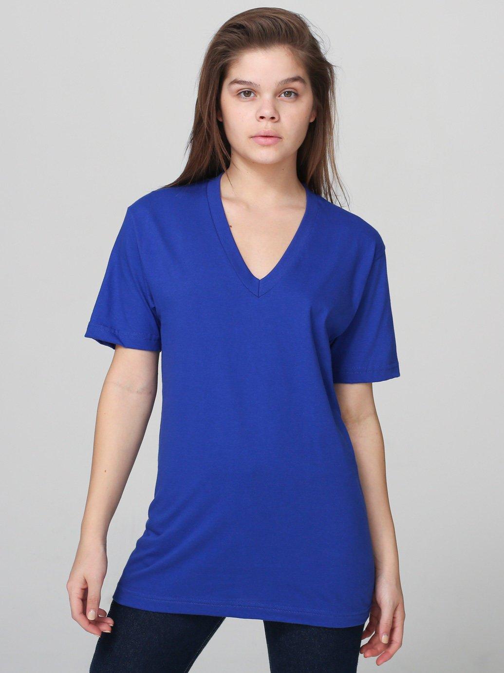 American Apparel Fine Jersey Short Sleeve V Neck Evan