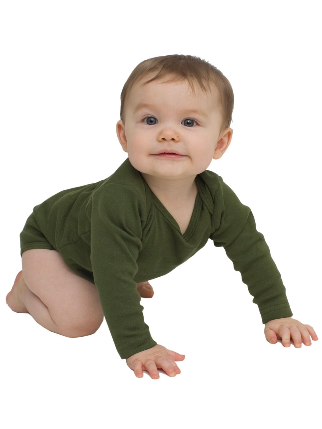 8a7895745553c American Apparel Infant Baby Rib Long Sleeve One-Piece - Evan ...