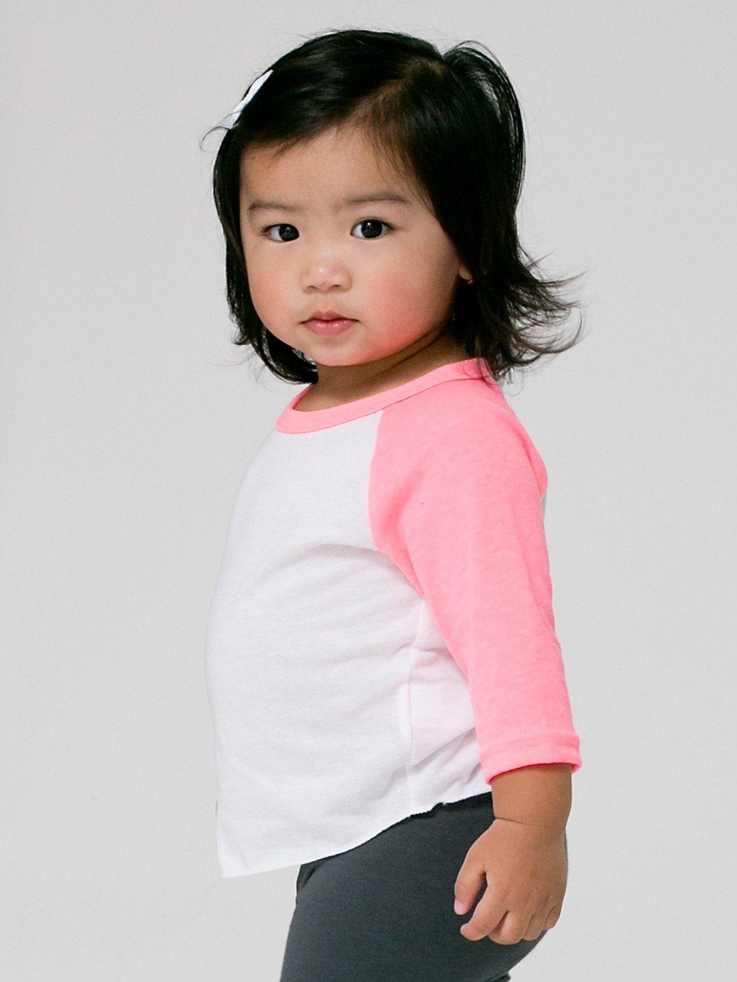 American Apparel Infant Poly Cotton 3 4 Sleeve Raglan