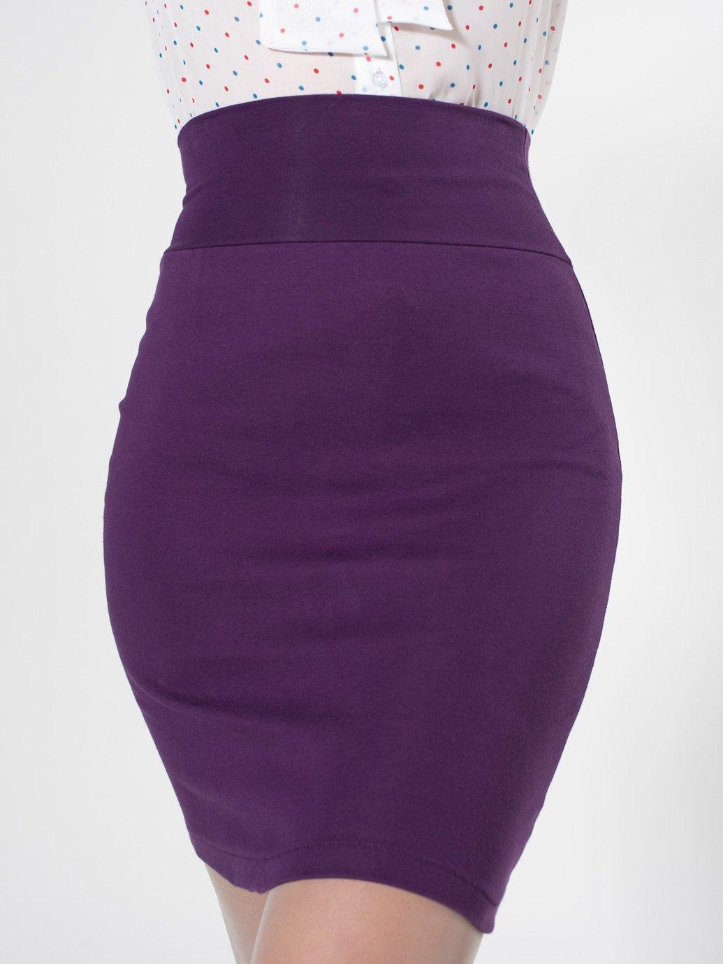 b93ca01df07 ... American Apparel Interlock Pencil Skirt Female Purple ...