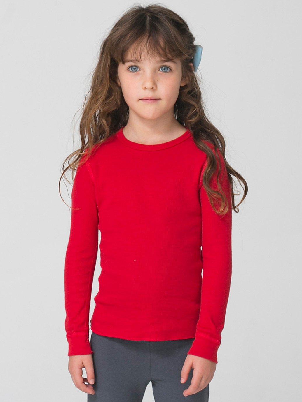 American Apparel Kids Baby Thermal Long Sleeve T-Shirt ...