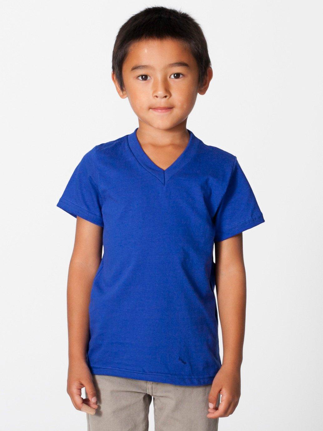368f20ed3a American Apparel Kids Fine Jersey V-Neck T-Shirt - Evan Webster INK