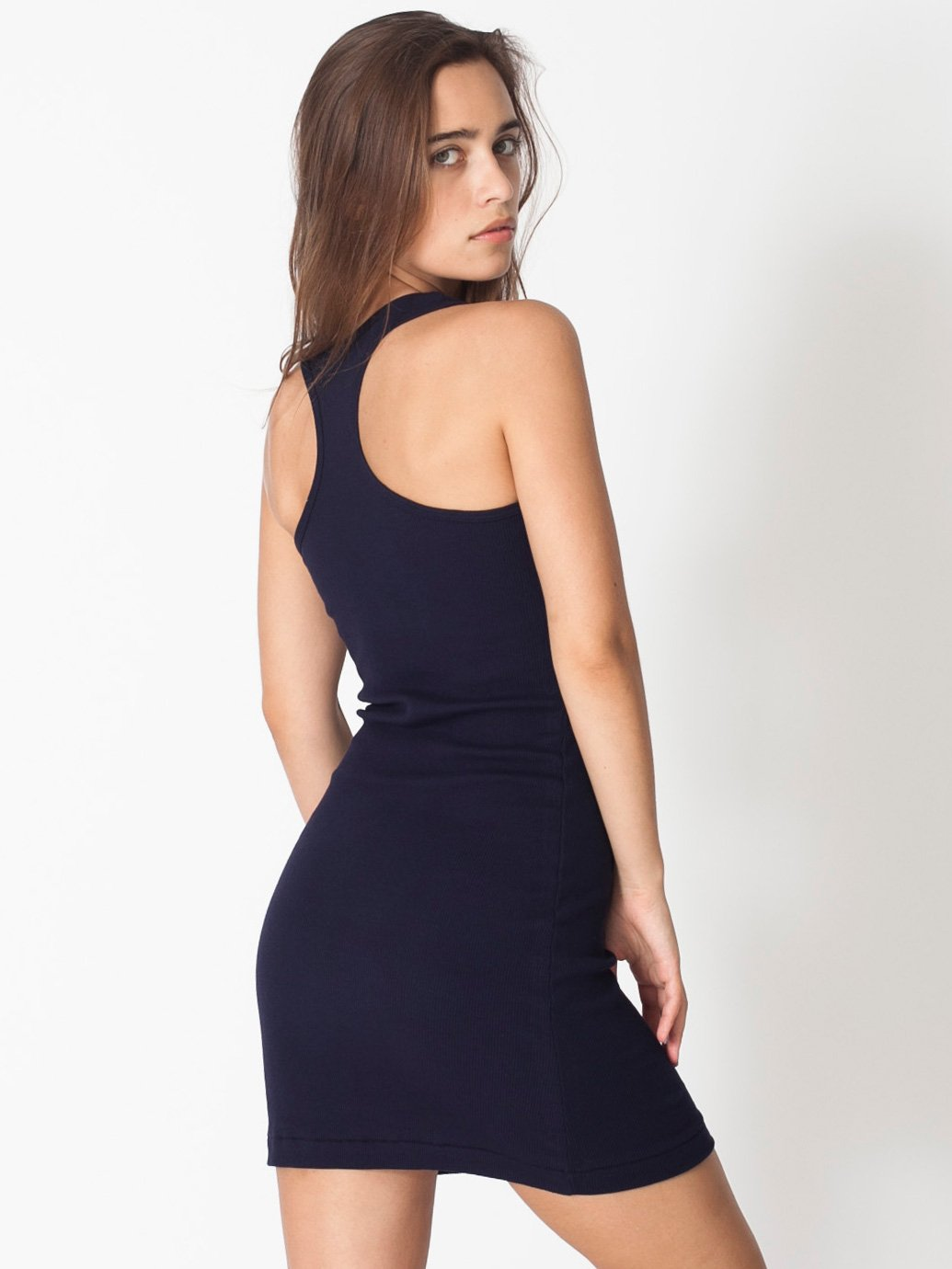 American Apparel Rib Racerback Dress Evan Webster Ink