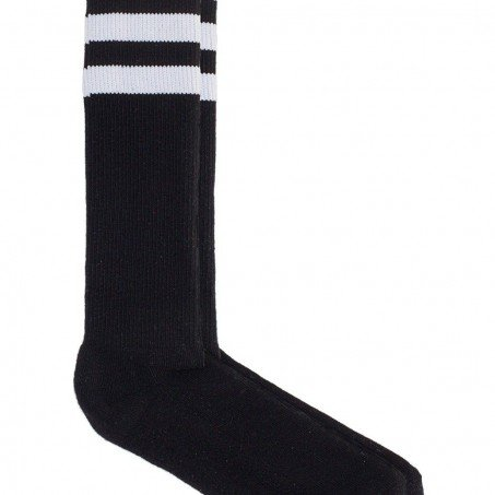 American Apparel Stripe Knee-High Socks Black