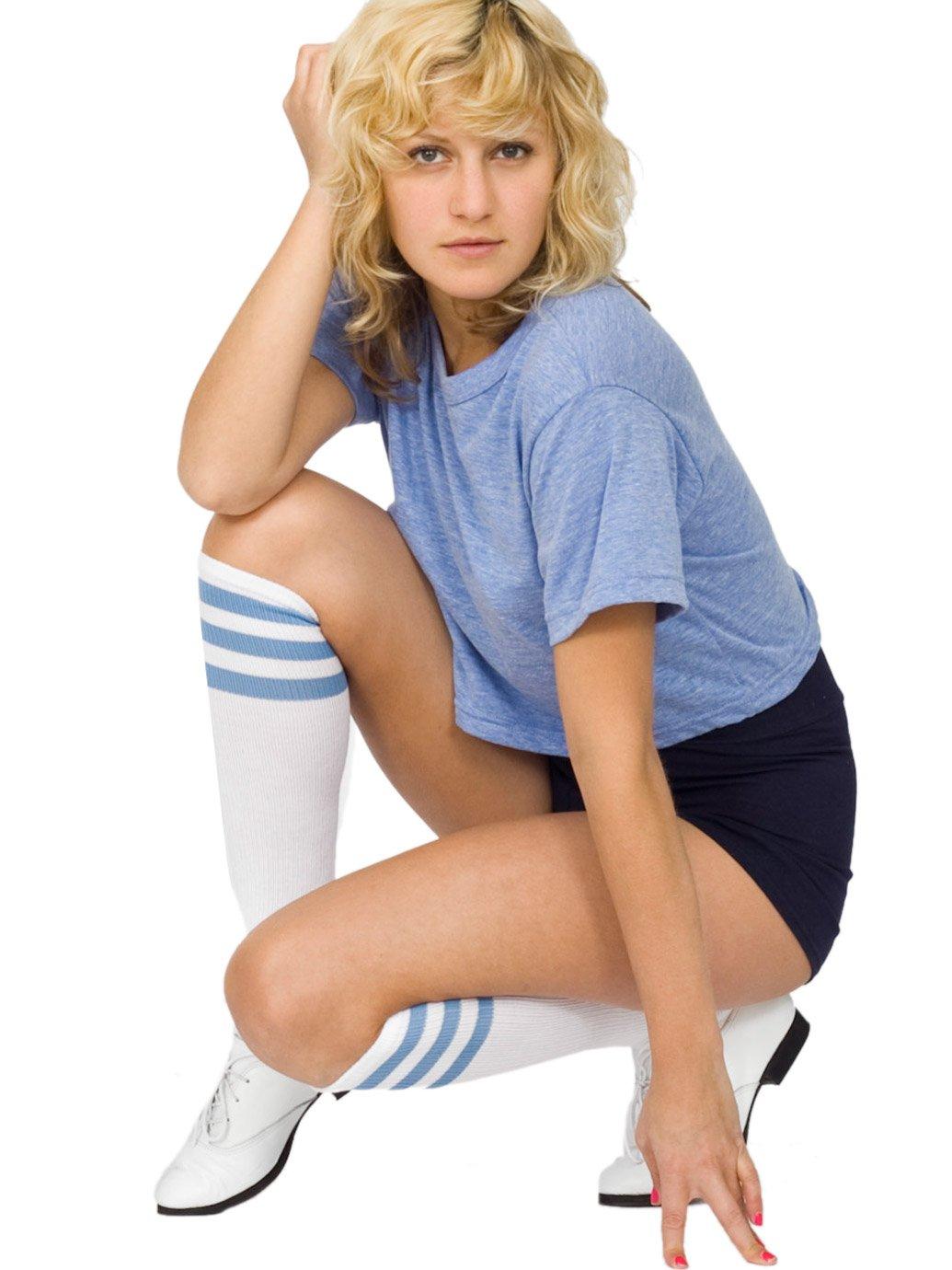 c6b909af35 American Apparel Stripe Knee-High Socks - Evan Webster INK
