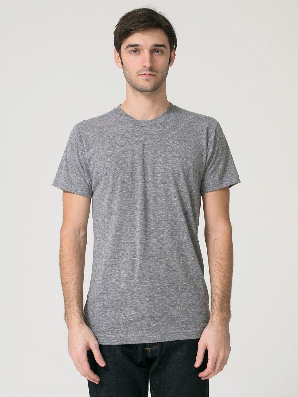American Apparel Tri Blend Short Sleeve Track Shirt Evan