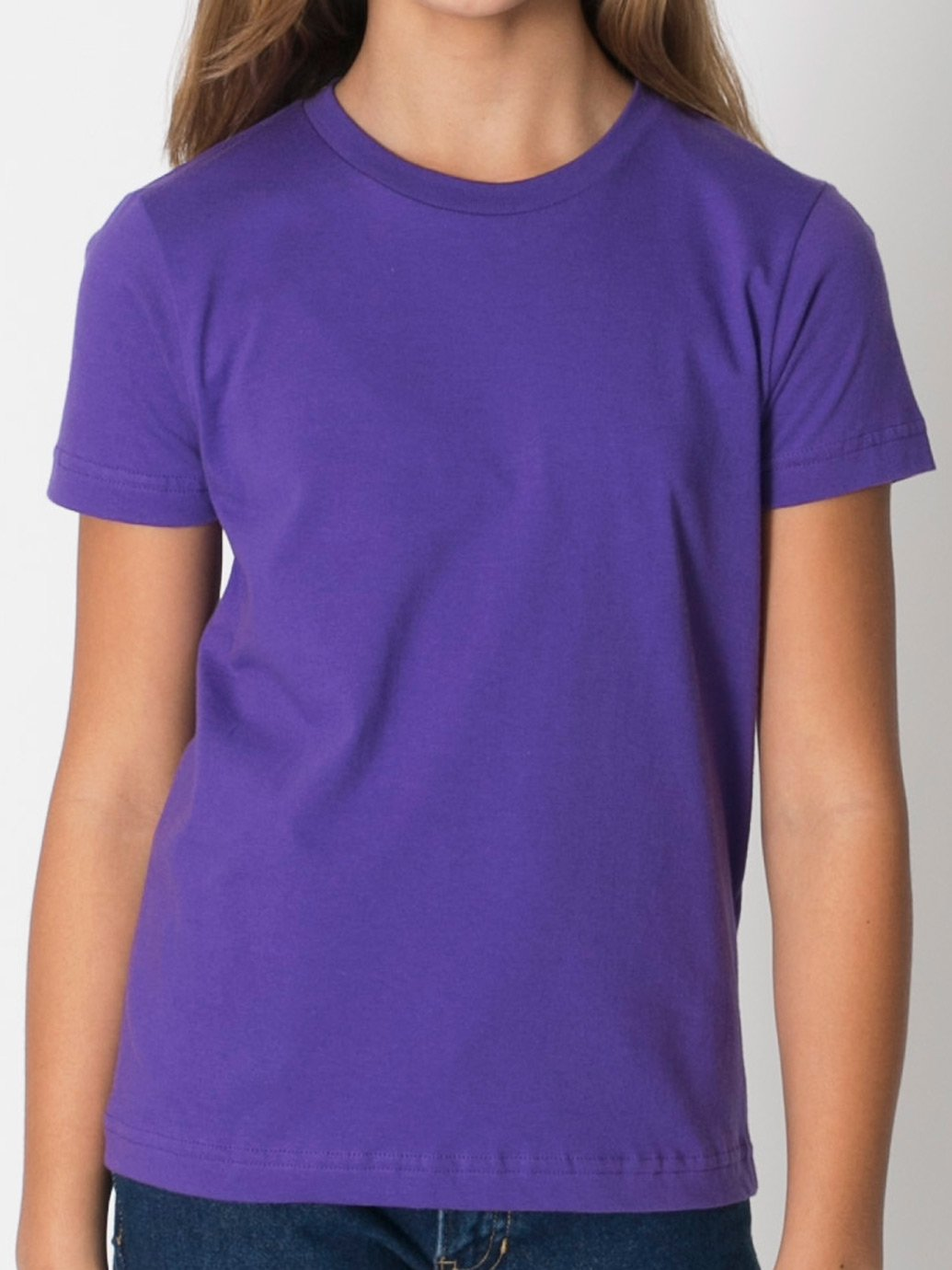 American Apparel Youth Fine Jersey Short Sleeve T-Shirt - Evan ...