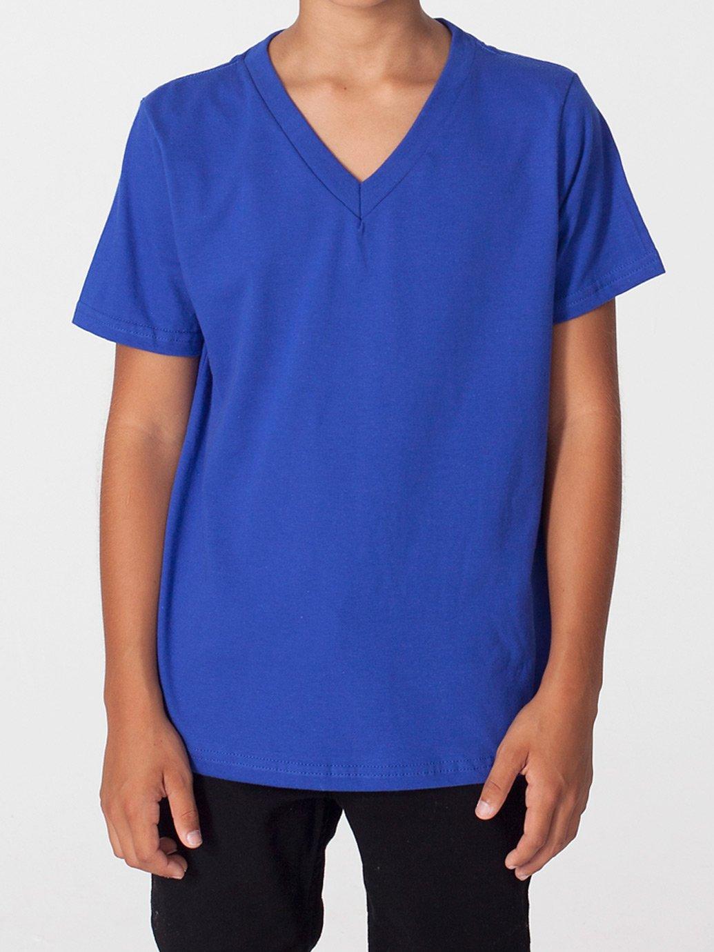 e9c70e1d7d American Apparel Youth Fine Jersey V-Neck T-Shirt - Evan Webster INK