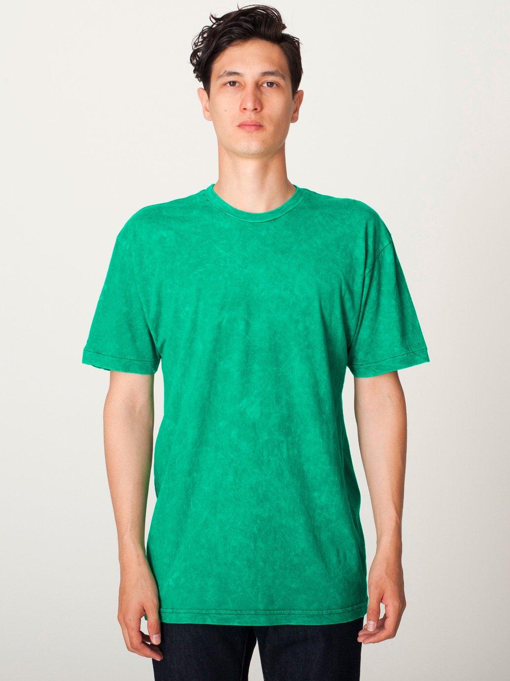 American apparel acid wash jersey short sleeve t shirt for American apparel fine jersey crewneck t shirt