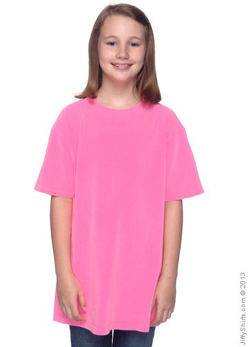 2e0fbe54 Authentic Pigment Youth Pigment-Dyed & Direct-Dyed Ringspun T-Shirt 1969Y  Female ...