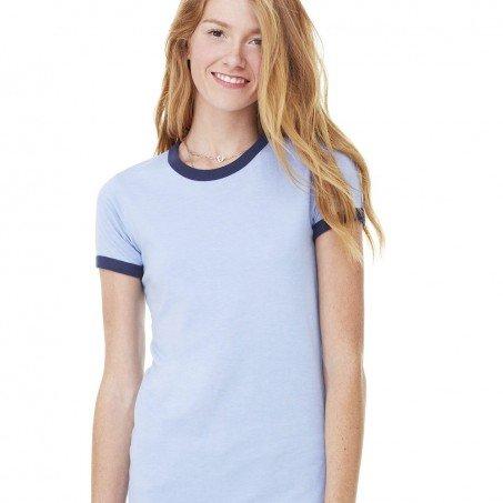 1bcd1486 Bella and Canvas Ladies' Heather Ringer T-Shirt - Evan Webster INK