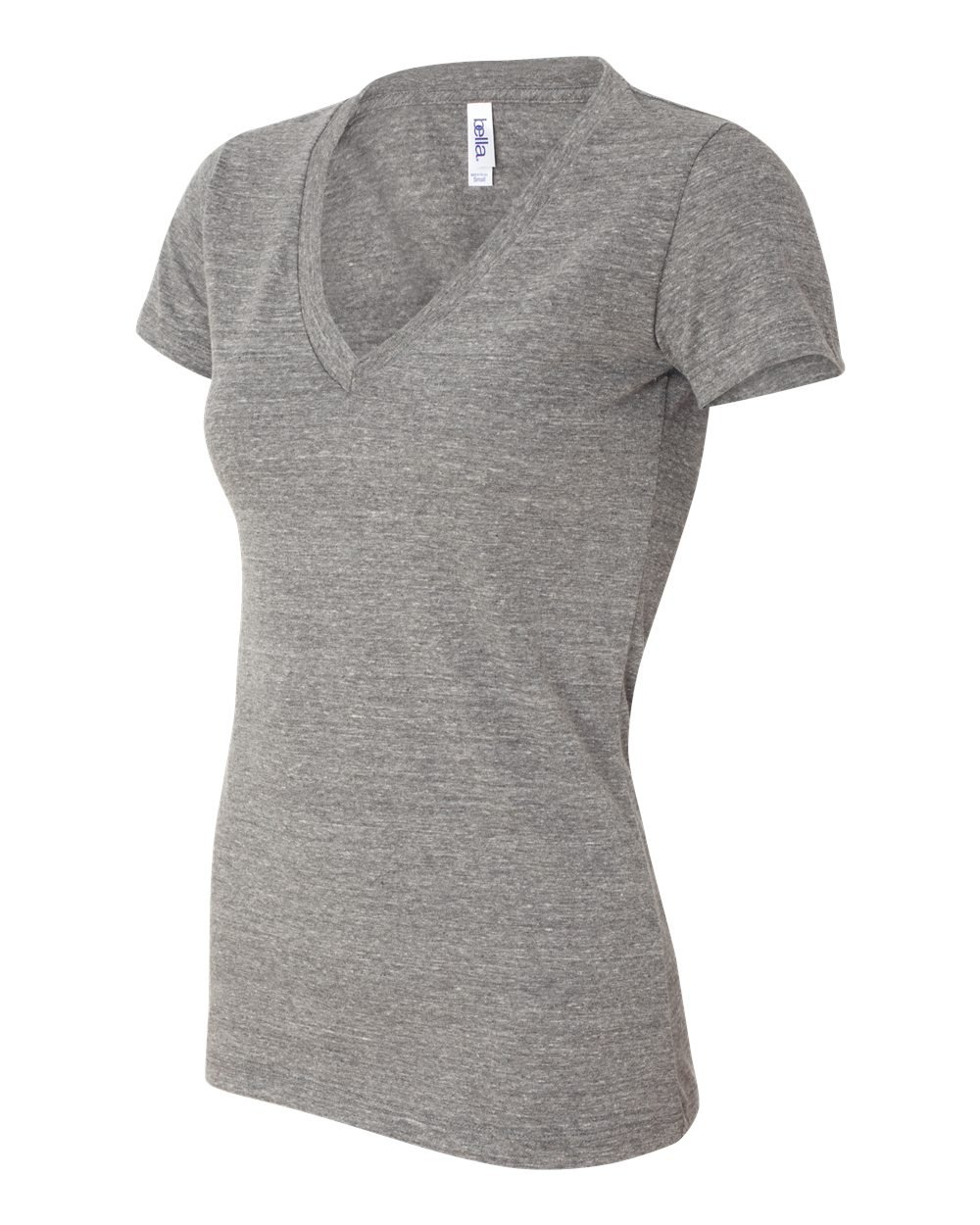 Bella And Canvas Ladies 39 Triblend Deep V Neck T Shirt