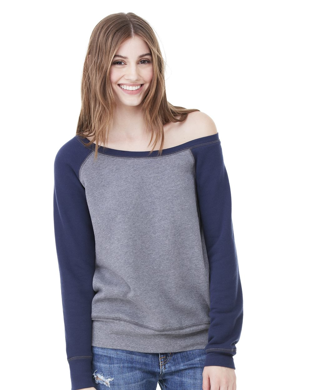 8d9edb4af8277 Bella and Canvas Ladies  Triblend Wideneck Sweatshirt - Evan Webster INK