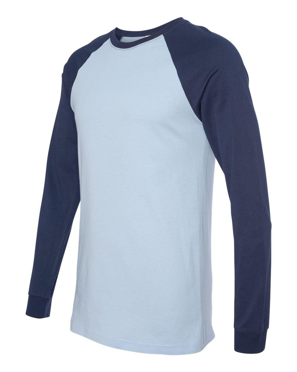 Bella and canvas long sleeve baseball jersey t shirt for Custom printed long sleeve t shirts