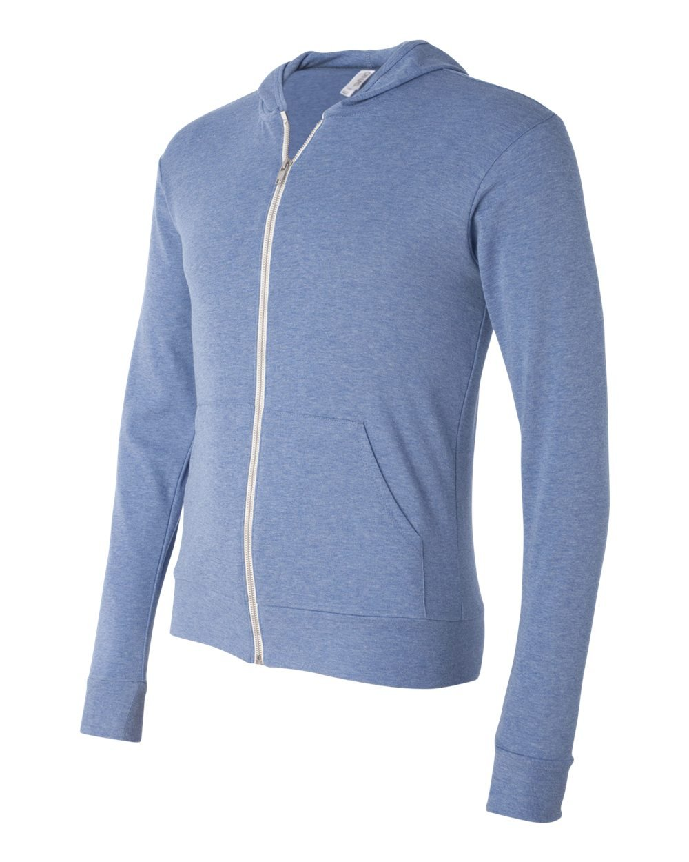 Bella And Canvas Triblend Unisex Lightweight Hooded Full