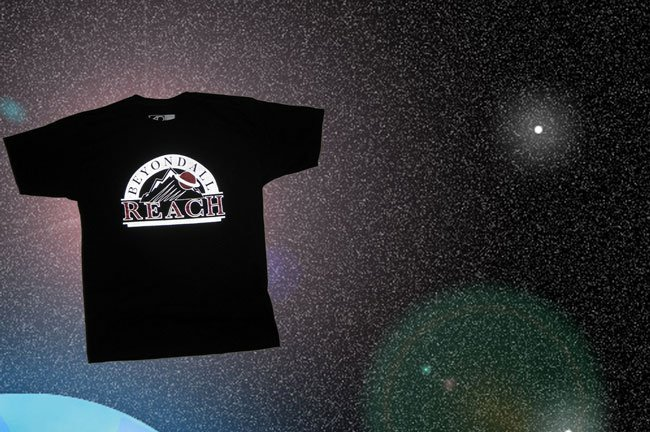 Boston clothing brand screen printed reflective ink black t-shirt