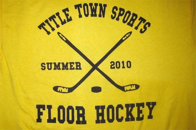 Custom athletic screen printed t-shirts for Title Town Sports in Newton, MA front