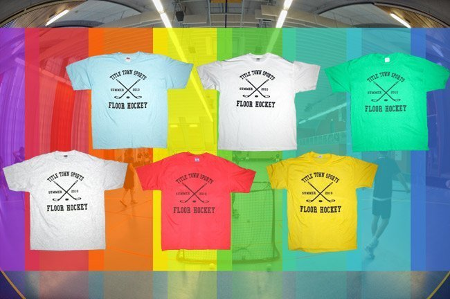 Custom athletic screen printed t-shirts for Title Town Sports in Newton, MA