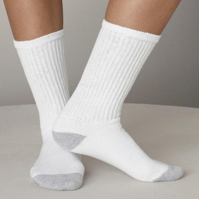 Mens white ankle socks