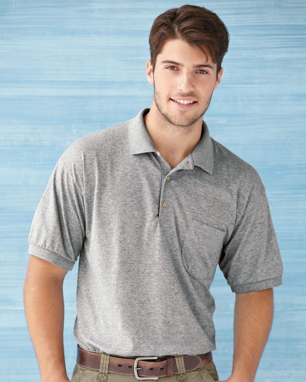 6ad1482d Gildan DryBlend™ 6 oz., 50/50 Jersey Polo with Pocket G890 - Evan ...