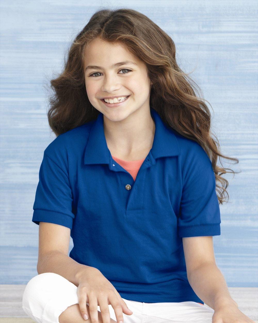 6588a6ff4 Gildan DryBlend™ Youth 5.6 oz., 50:50 Jersey Polo G880B Female Blue