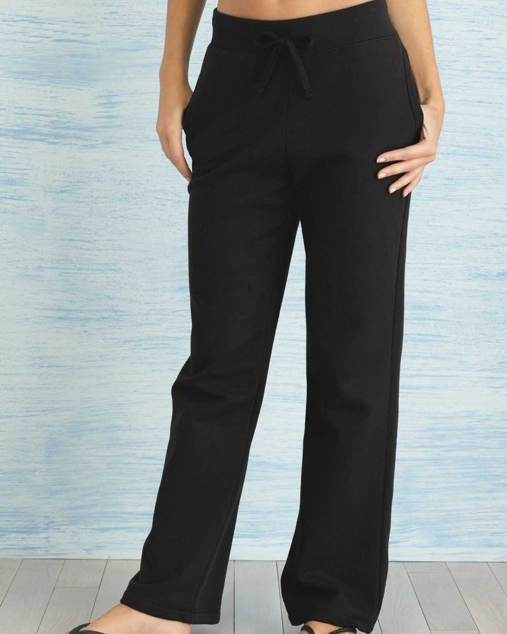 Gildan Womens Open Bottom Sweatpants